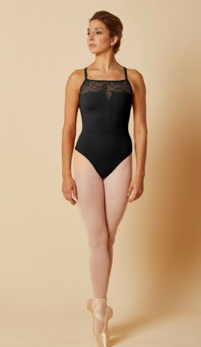 Mirella by Bloch Ladies Dance Open Back Lace Camisole Leotard M2169 Black